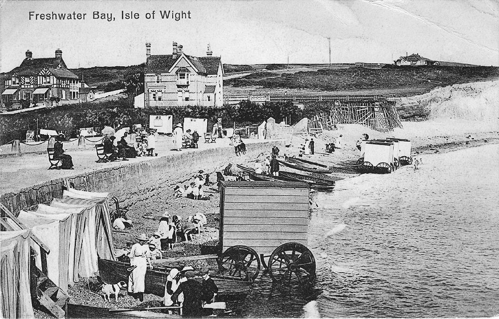 Looking east about 1910