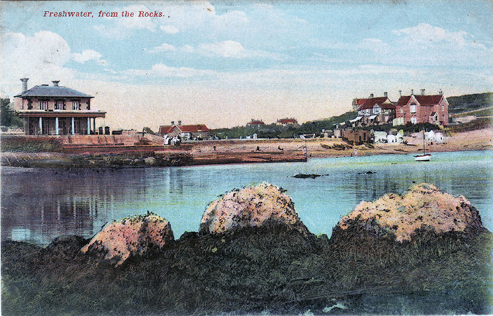 View from the rocks on the west side