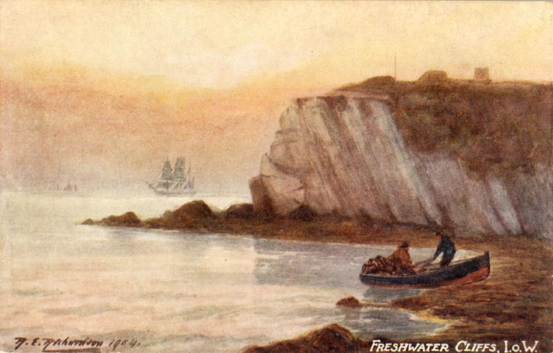 An Oilette artistic card of Freshwater Bay